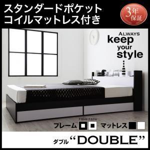 ベッドダブル ダブルベッド ダブルベッド マットレス付き ベッド スタンダードポケットコイルマットレス付き|comodocrea