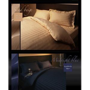ボックスシーツ セミダブル ベッドカバー セミダブル ホテルスタイル ストライプサテン ボックスシーツ|comodocrea|12