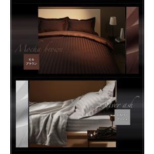 ボックスシーツ セミダブル ベッドカバー セミダブル ホテルスタイル ストライプサテン ボックスシーツ|comodocrea|13