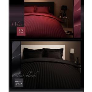 ボックスシーツ セミダブル ベッドカバー セミダブル ホテルスタイル ストライプサテン ボックスシーツ|comodocrea|14