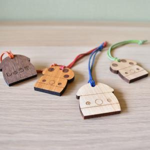 こまむぐ公式 どんぐりネームタグ 木のおもちゃ 日本製 知育 木育 |comomg