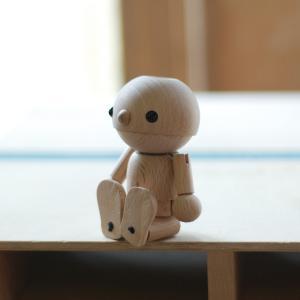 こまむぐ公式 こまむ・どぉる 木のおもちゃ 日本製 知育 木育 人形|comomg