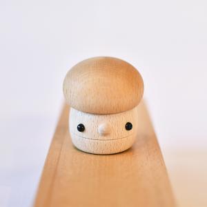 こまむぐ公式 どんぐりきのこ・クリア 木のおもちゃ 日本製 知育 木育 |comomg