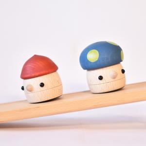 こまむぐ公式 どんぐりの坂 木のおもちゃ 国産 知育 木育 どんぐりころころ 動くおもちゃ comomg