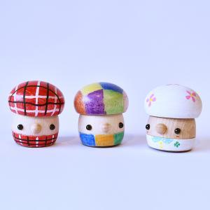 こまむぐ公式ショップ どんぐり工作キット【きのこ帽子】 木のおもちゃ 手作り 日本製 知育 木育 工作 ワークショップ|comomg