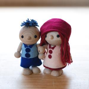 こまむぐ公式 ひのき・かえで 木のおもちゃ 日本製 知育 木育 人形|comomg