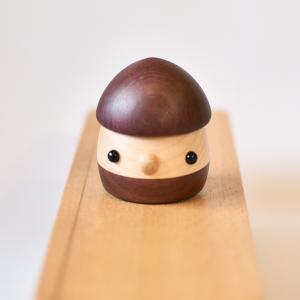 こまむぐ公式 限定商品 なちゅらる・どんぐり パープルハート どんぐりころころ 動くおもちゃ 国産 木製玩具|comomg