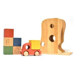 こまむぐ公式 Tuminyセット 木のおもちゃ 日本製 知育 木育 木のトラック|comomg