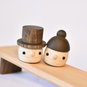 こまむぐ公式 どんぐりぱぱ・ままセット 木のおもちゃ 日本製 知育 木育 どんぐりころころ ギフトセット comomg