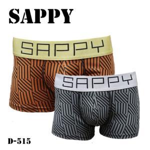 SAPPY ボクサーパンツ ローライズ 柄ブロック