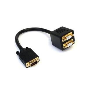 StarTech.com 30cm VGA オス-2x VGA メス 分配ケーブル VGASPL1VV 目安在庫=○