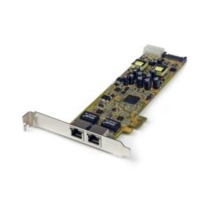 StarTech.com 2ポートギガビットイーサネット増設PCI Express NWアダプタLANカード 目安在庫=△|compmoto-y