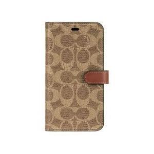 COACH iPhone SE2/8/7 Coach Folio Case - Signature C Khaki 目安在庫=○|compmoto-y