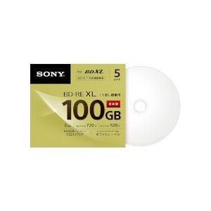 ソニー ビデオ用BD-RE 100GB 2倍速 ホワイトワイドプリンタブル 5枚パック 目安在庫=△[メール便対象商品]
