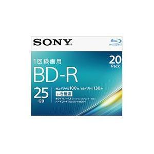 ソニー ビデオ用BD-R 片面1層25GB 6倍速 ホワイトプリンタブル 20枚パック 目安在庫=△