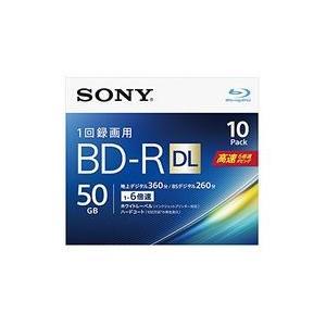 ソニー ビデオ用BD-R 片面2層50GB 6倍速 ホワイトプリンタブル 10枚パック 目安在庫=△