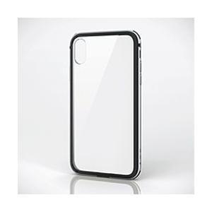エレコム iPhone XRハイブリッドケースアルミバンパー シルバー PM-A18CHVBASV 目安在庫=△|compmoto-y