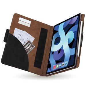 エレコム エレコム iPad Air 10.9インチ(第4世代/2020年モデル)/レザーケース/手帳型/フリーアングル/ツートンカラー/ブラック×ブ メーカー在庫品|compmoto-y