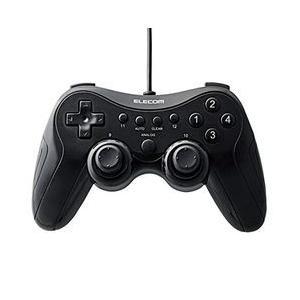 エレコム ゲームパッド 高耐久ボタン採用 12ボタン 振動・連射機能搭載 ブラック メーカー在庫品|compmoto-y