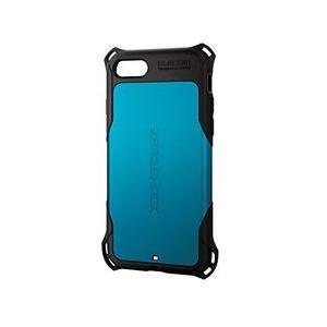 エレコム iPhone 8/ZEROSHOCK/スタンダード/ブルー PM-A17MZEROBU メーカー在庫品[メール便対象商品]|compmoto-y
