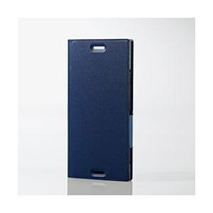 エレコム Xperia XZ1/ソフトレザーカバー/薄型/磁石付/ネイビー PM-XZ1PLFUNV メーカー在庫品[メール便対象商品]|compmoto-y