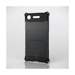 エレコム Xperia XZ1/ZEROSHOCK/スタンダード/ブラック PM-XZ1ZEROBK メーカー在庫品[メール便対象商品]|compmoto-y