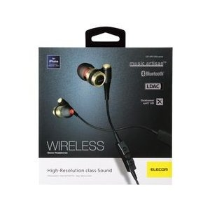 エレコム Bluetooth イヤホン 径9.8mmダイナミックドライバー採用 LDAC対応 ブラック メーカー在庫品の商品画像|ナビ