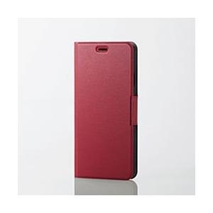 エレコム iPhone XS Maxソフトレザーカバー 薄型 磁石付 レッド PM-A18DPLFURD 目安在庫=△|compmoto-y