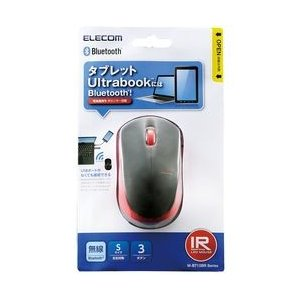 エレコム IRマウス/M-BT12BRシリーズ/Bluetooth3.0/3ボタン/省電力/レッド メーカー在庫品|compmoto-y