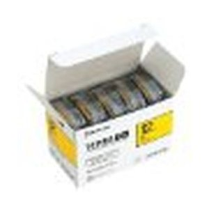 【テプラPROテープ エコパック 黄色 黒文字 12mm幅 8m 5個入】 検索キーワード: テプラ...