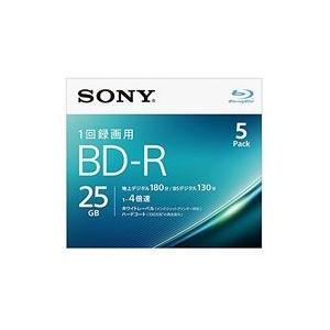 ソニー ビデオ用BD-R 片面1層25GB 4倍速 ホワイトプリンタブル 5枚パック 目安在庫=△