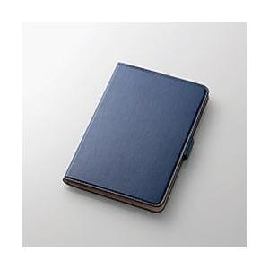 エレコム iPad mini 4/フラップカバー/ソフトレザー/360度回転/ブルー 目安在庫=△ compmoto