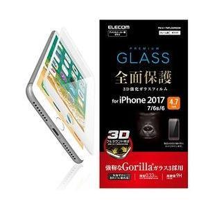 エレコム iPhone 8/ガラス/フルカバー/ゴリラ/ホワイト PM-A17MFLGGRGOW 目安在庫=△ compmoto