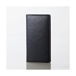 エレコム iPhone XR/ソフトレザーカバー/イタリアン(Coronet)/ネロ 目安在庫=△ compmoto