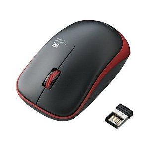 エレコム ワイヤレスIR LEDマウス 3ボタン レッド M-IR06DRRD メーカー在庫品の商品画像
