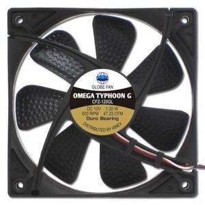 AINEX アイネックス CFZ-120GLA OMEGA TYPHOON G 120mm 究極静音タイプ 900rpm±200/47.23CFM/10.8dB(A) お取り寄せ|compro