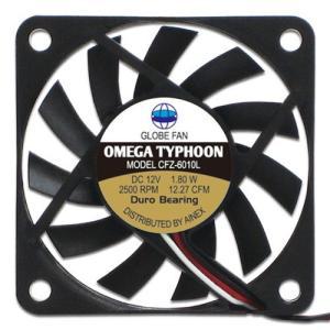 AINEX アイネックス CFZ-6010LA OMEGA TYPHOON 60mm 薄型究極静音タイプ 2500rpm±10%/12.27CFM/17.14dB(A) お取り寄せ|compro