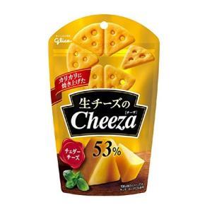江崎グリコ 生チーズのチーザ チェダーチーズ 40g×10袋