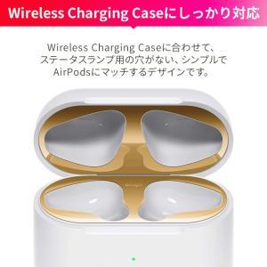 AirPods2 ダストガード 金属粉 ほこり 埃 侵入 防止 防塵 アクセサリー エアーポッズ 2 第2世代 Wireless Charging Case MRXJ2J/A MR8U2J/A elago DUST GUARD|comwap|06