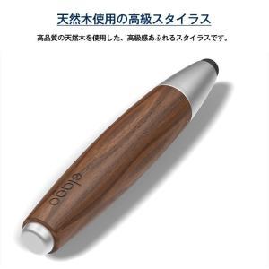 タッチペン スマホ タブレット スタイラスペン 木製 替え ペン先 付 スマホ用 タブレット用 タッチペン iPhone iPad スマートフォン 細い elago STYLUS RUSTIC 2 comwap 03