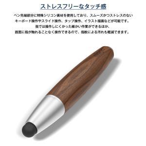 タッチペン スマホ タブレット スタイラスペン 木製 替え ペン先 付 スマホ用 タブレット用 タッチペン iPhone iPad スマートフォン 細い elago STYLUS RUSTIC 2 comwap 05