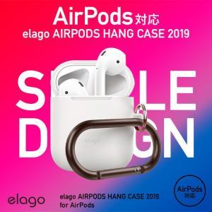 AirPods ケース シリコン カラビナ 付 落下防止 アクセサリー シンプル イヤホン ケース 衝撃 吸収 カバー Apple エアーポッズ 対応 elago AIRPODS HANG CASE|comwap|02