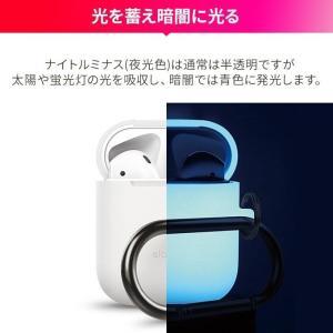 AirPods ケース シリコン カラビナ 付 落下防止 アクセサリー シンプル イヤホン ケース 衝撃 吸収 カバー Apple エアーポッズ 対応 elago AIRPODS HANG CASE|comwap|07
