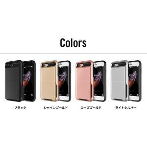 iPhone8 iPhone7 ケース カード 収納 耐衝撃 米軍 MIL 規格 背面 カードケース 5枚 衝撃 吸収 ハイブリッド カバー アイフォン8 アイフォン7 VRS Damda Folder|comwap|02
