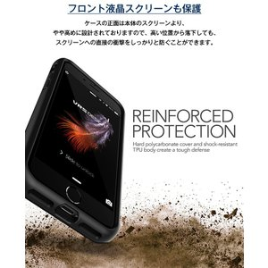 iPhone8 iPhone7 ケース カード 収納 耐衝撃 米軍 MIL 規格 背面 カードケース 5枚 衝撃 吸収 ハイブリッド カバー アイフォン8 アイフォン7 VRS Damda Folder|comwap|06