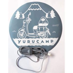 ゆるキャン△ グッズ 超薄型 USBスリムヒーター<志摩リンのバイクと富士山デザイン>|con-para
