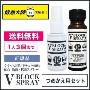 ダチョウ抗体 除菌スプレー Vブロックスプレー V BLOCK SPRAY スプレー&詰め替えセット ウイルス対策 30ml &50ml