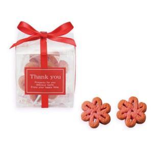 クリスタルキューブ 花いちごクッキー  30個以上からご注文受付可  通常、ご注文・ご入金後7〜10日にて出荷・代引き不可|concent