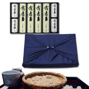 【弔事向け・風呂敷包み】「翁 達磨」そば・つゆセット(8食セット)   通常、1〜4日程度で発送
