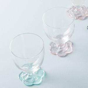 アンソロポロジー ワイングラス2個セット 花びらデザイン Anthropologie|conceptstore